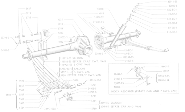 ford prefect 100e spare parts